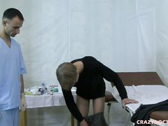 Smoking super hot medical examination