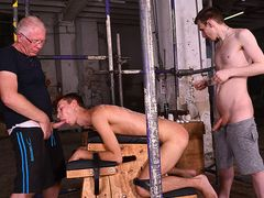 Making The Fresh Fellow Hungry For Spunk Part two - Jay McDally, Sebastian Kane & Reece Bentley