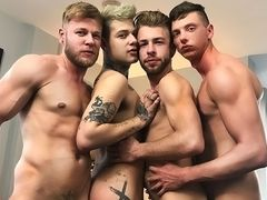 When the Soiree Turns into a 4Some - Billy Rock, Matthew Anders, Gabriel Phoenix & Mickey Taylor