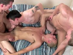 So Much Ginormous Brit Man Rod! - Luke Desmond, Brez Nasty, Evan Zero & Noah James