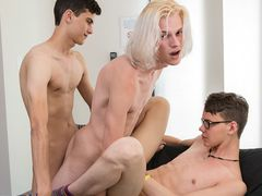 Sumptuous Fellow Justin Gets His Threesome Desire - Aaron Martin, Justin Cross & Kayden Alexander