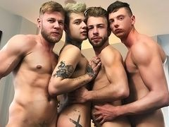 When the Soiree Turns into a Four-Way - Billy Rock, Matthew Anders, Gabriel Phoenix & Mickey Taylor
