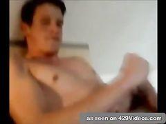 Bare twunk draining on webcam
