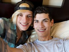 Without A Condom Hard-On Mates Home Video! - Justin Cross and Kayden Alexander