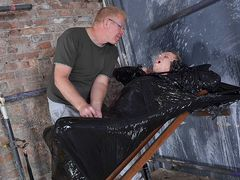 Twunk Dude Cocooned In Plastic! - Chris Jansen & Sebastian Kane