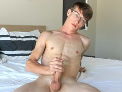 Stroking Off With Fresh Man Corey - Corey Dawson