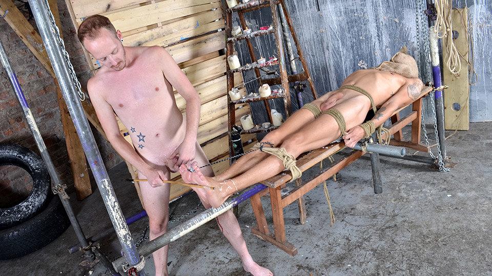 Woot Masturbating With A Strapped Up Man - Xavier Sibley & Sean Taylor