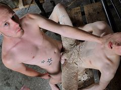 Youngster Bottom Facialed In Super-Hot Paraffin Wax - Aaron Aurora & Sean Taylor